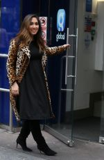 Myleene Klass At Global Radio Studios in London