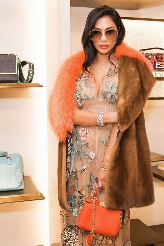 Nicole Scherzinger At The Shapes of Water Exhibition by Hong Kong Fendi