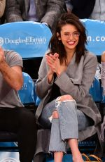 Nina Dobrev At Cleveland Cavaliers v New York Knicks game at Madison Square Garden in NYC