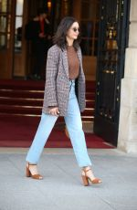 Nina Dobrev Leaving her hotel in Paris