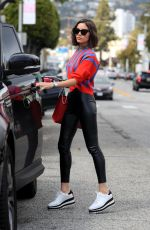 Olivia Culpo Leaves the hair salon in West Hollywood