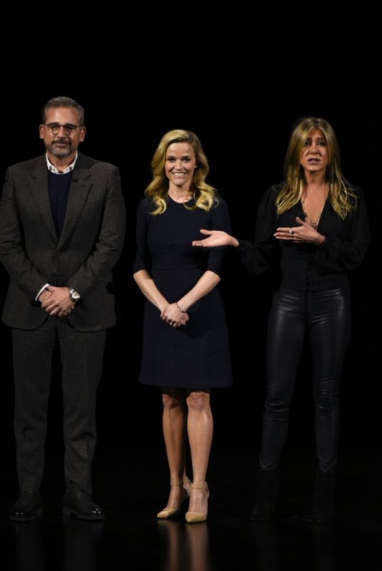 Reese Witherspoon & Jennifer Aniston At Apple Product Launch Event at Apple Park Cupertino