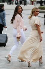 Sam & Billie Faiers Outside the ITV Studios in London
