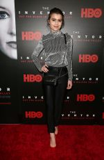 Sami Gayle At HBO Hosts the Premiere of THE INVENTOR OUT FOR BLOOD IN SILICON VALLEY, New York