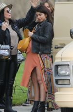 Sarah Hyland On set to shoot one of the last episodes of season 10 of Modern Family in LA