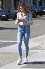 Sistine Stallone Enjoys an afternoon of shopping in Beverly Hills