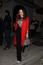 Sophia Bush In red as she leaves Craig