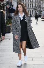 Stacey Solomon Arriving at Global Radio Studios in London