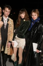Staz Lindes At Celine show, Front Row, Fall Winter 2019, Paris Fashion Week