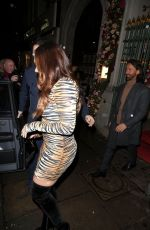 Tamara Ecclestone and husband Jay Rutland pictured leaving Park Chinois in London