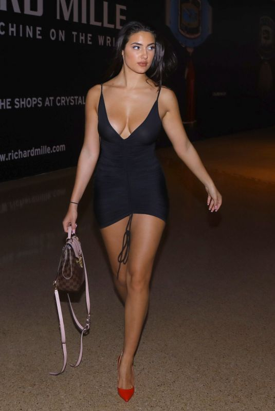 Tao Wickrath In Black Dress in Las Vegas