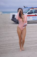 Tao Wickrath In Swimsuit on the Beach in Miami
