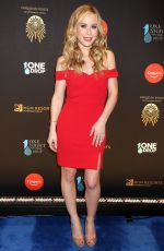 Tara Lipinski At 2019 One Night for One Drop blue carpet arrivals at Bellagio Las Vegas