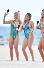 The girls of From MiamiTV seen on Miami Beach in Florida