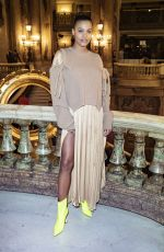 Tina Kunakey At Stella McCartney show, Fall Winter 2019, Paris Fashion Week