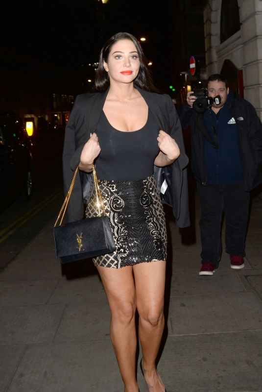 Tulisa Contostavlos Outside the National Film Awards in London