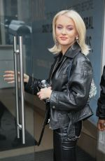 Zara Larsson At Global Studios to promote her tour dates in London