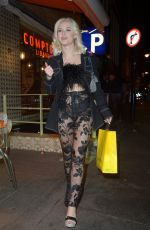 Zara Larsson At night out in London