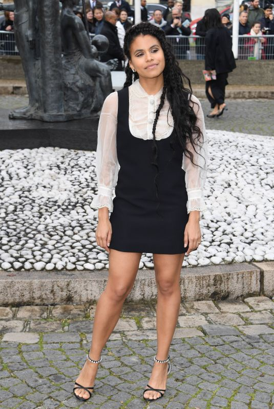 Zazie Beetz At Miu Miu Fashion Show in Paris
