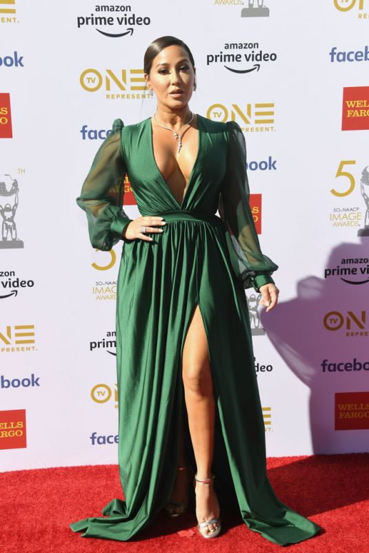 Adrienne Bailon Houghton At 50th naacp image awards in Hollywood