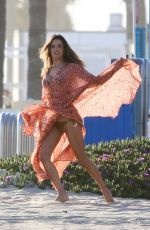 Alessandra Ambrosio Doing a photoshoot in Santa Monica