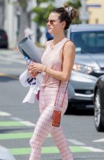 Alessandra Ambrosio Heads to a yoga class in Brentwood