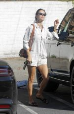 Alessandra Ambrosio Showing Legs While Out For Shopping In Brentwood
