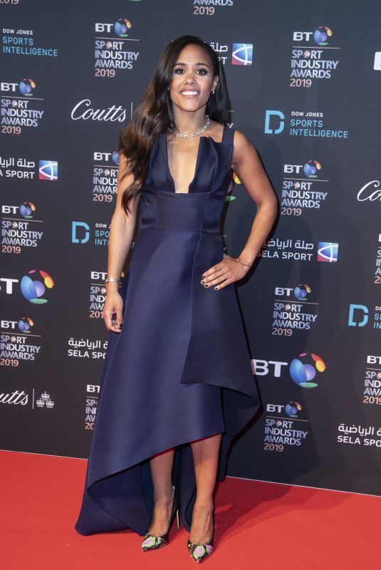 Alex Scott Appears on the red carpet ahead of the BT Sport Industry Awards 2019 at Battersea Evolution, London