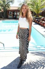 Alisha Boe Poolside with H&M in Palm Springs