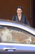 Alyssa Milano Checks out of her hotel in New York City