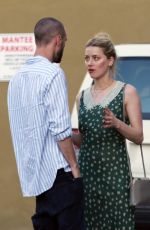 Amber Heard At Mantee Cafe in Studio City