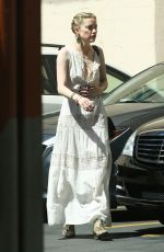 Amber Heard Goes To A Business Meeting In Downtown Los Angeles