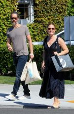 Amy Adams and husband purchase Birthday Balloons and cake at Bristol Farms In Beverly Hills