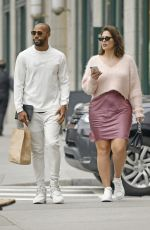 Ashley Graham and Justin Ervin on a stroll in Tribeca