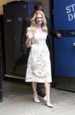 Beth Behrs Leaves ABC Studios in New York City