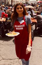 Blanca Blanco Is in the spirit of giving back as she volunteers her time to feed the homeless in Downtown LA