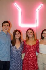 Bonnie Wright Is celebrating the launch of her sustainable swimwear brand Fair Harbor in Brooklyn, New York