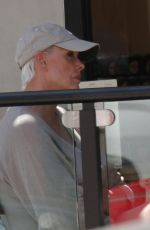Brigitte Nielsen Enjoys lunch at Le Pain Quotidien in Los Angeles