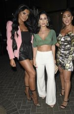 Cally Jane Beech Arriving at Menagerie for Girls Night out in Manchester