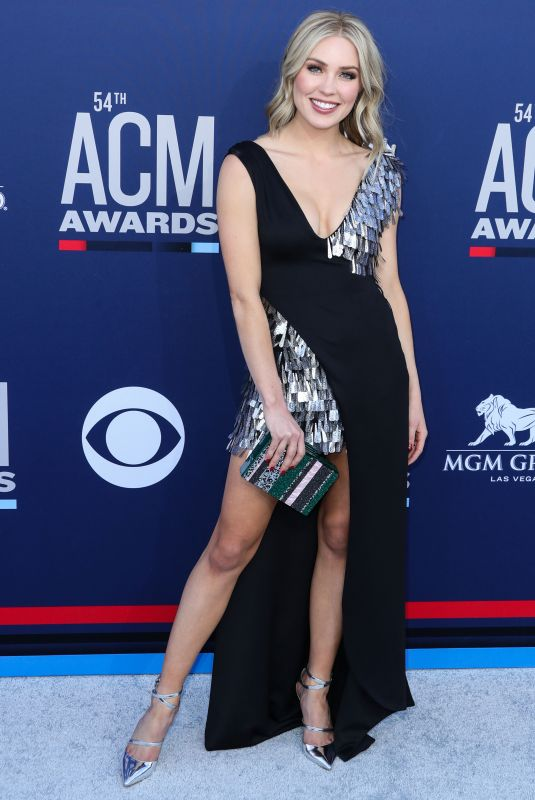 Cassie Randolph At 54th Academy of Country Music Awards at MGM Grand Garden Arena in Las Vegas