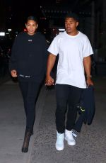 Chanel Iman and Sterling Shepard leave Off-White dinner at L