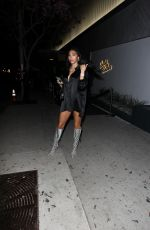 Chantel Jeffries Exits the soft reopening of Bootsy Bellows with friends and family in West Hollywood