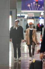 Charlie Heaton and girlfriend Natalia Dyer arriving at Roissy CDG airport