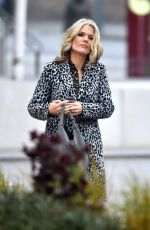 Charlotte Hawkins Outside the ITV studios after presenting on the Good Morning Britain show - London