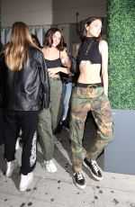 Charlotte Lawrence and friends leave Delilah nightclub in West Hollywood