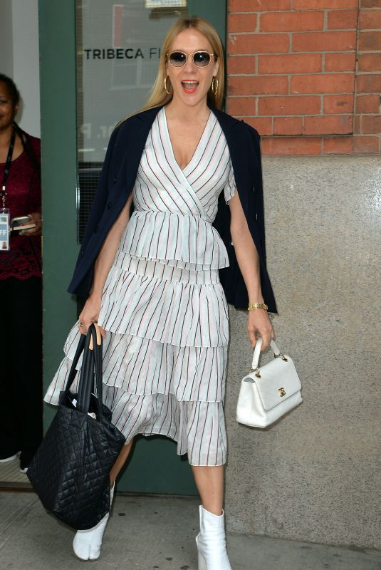 Chloe Sevigny Leaving the Tribeca Film Festival Luncheon at the Greenwich Hotel in New York