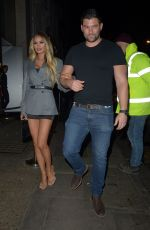 Chloe Sims and Mystery Man At Nobu Mayfair