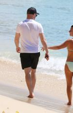 Coleen Rooney On a Barbados beach