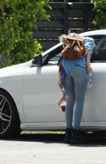 Dani Thorne Arrives at home in Los Angeles