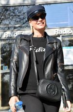 Denise Van Outen At The Ray Darcy Radio Show, RTE in Dublin